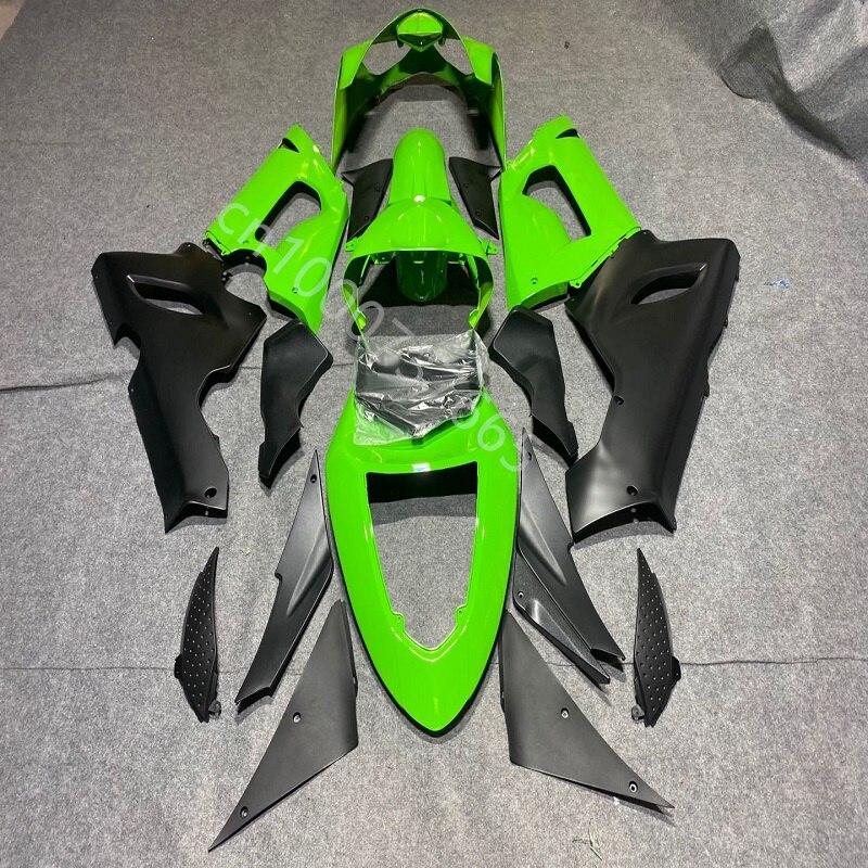 حار مبيعات الأخضر الأسود هدية عدة لكاواساكي النينجا ZX10R 04 05 ZX 10R 2004 2005 ZX-6R 04 05 ABS البلاستيك هدية عدة