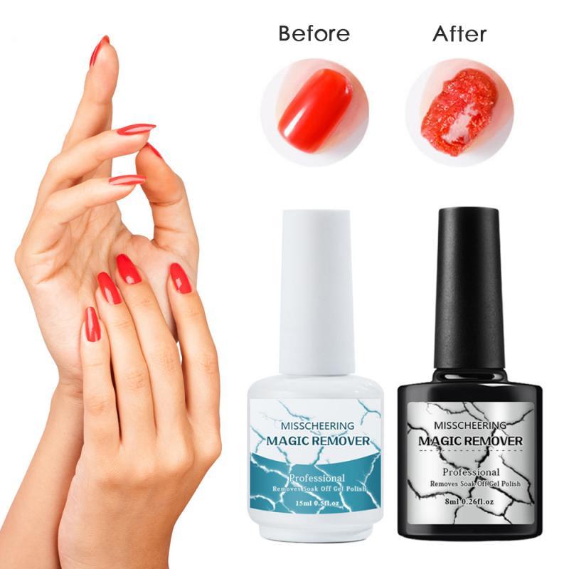 8ml / 15ml Nail Art Nail Explosion Nail Remover Easy And Quick Magic Nail Remover Oil Polishing Permanent Makeup Remover Primer