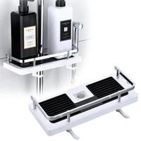 Support de douche  organisateur de douche  poteau de salle de bain  etagere de shampooing  support de plateau a un niveau  pas de percage  tige de levage