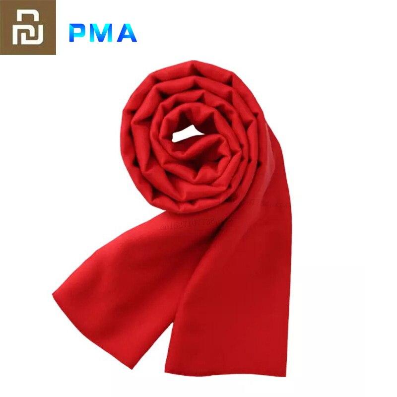 Youpin PMA, bufanda térmica de grafeno, tejido de fibra ajustable de 3 engranajes, interfaz lavable al agua, suave cálido, regalo rojo Unisex