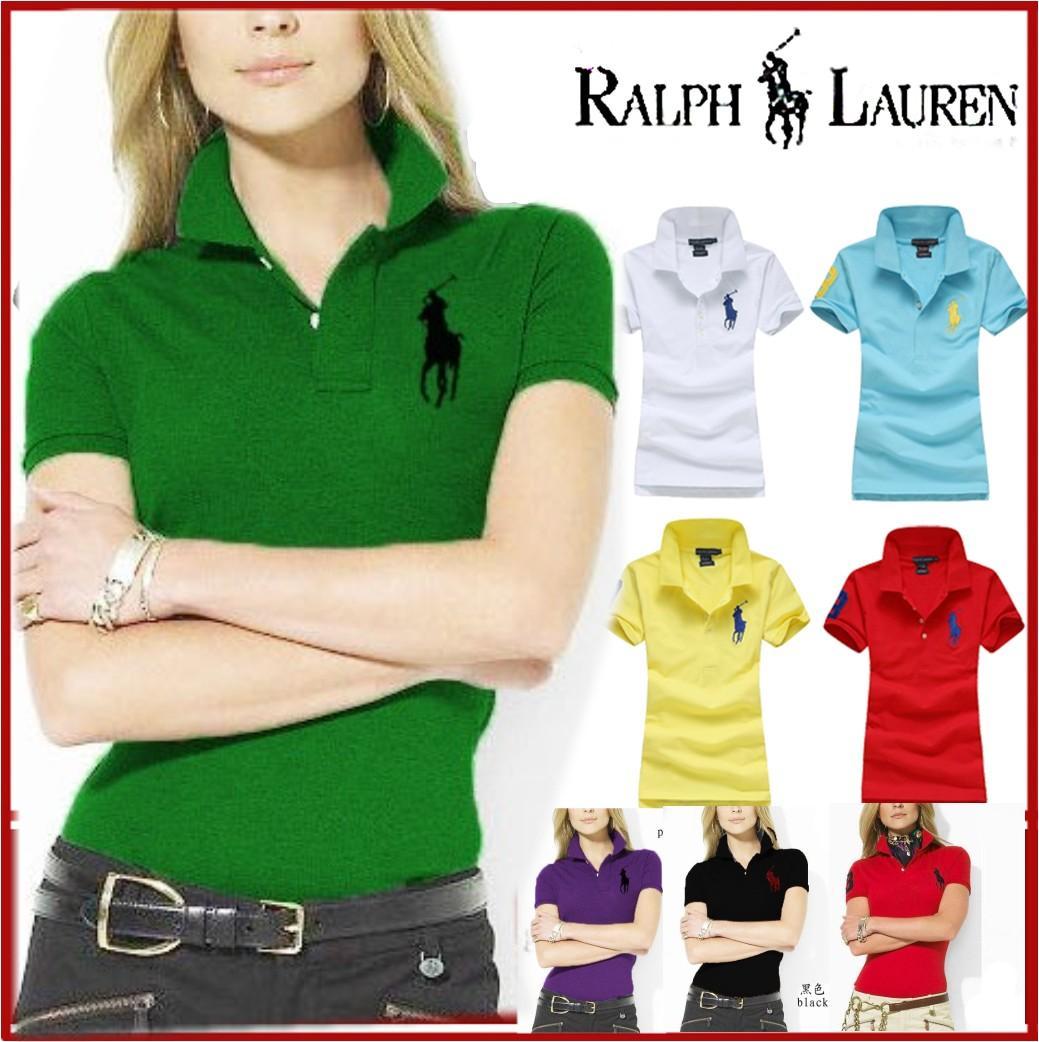 RALPH LAUREN- Women Polo Shirt Brand women Casual Deer Embroidery Polo shirt women Short Sleeve High Quantity Polo 71701