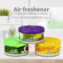 Car Air Freshener Car Perfume Gel Can Fragrance Box Solid Perfume Deodorant Vanilla Fragrance Interior Accessories 2.47oz