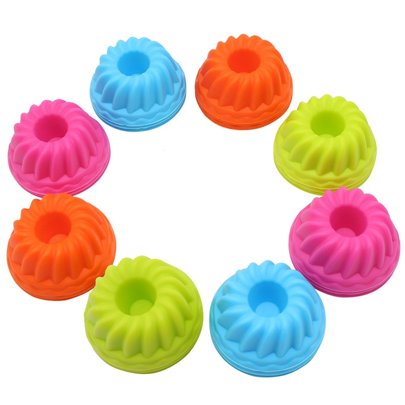 12pcs Cupcake Liner Baking Cup Cake Silicone Muffin Cases Box Egg Tarts Tray Mould Decorating Tools