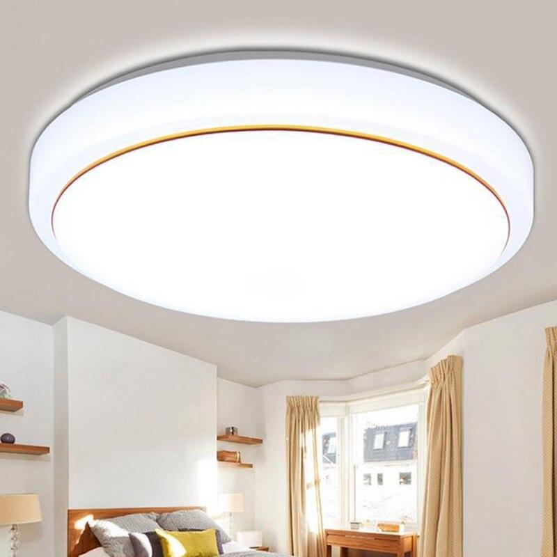 Luces de techo de aluminio + acrílico de alto brillo Led lámpara de techo habitación dormitorio baño decoración del hogar, cocina Accesorios
