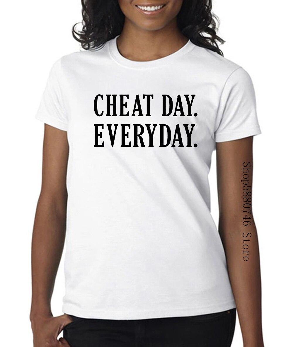 Hombres Cheat Day Everyday Gymnasium Diet camiseta para hombres de alta calidad personalizada impresa Tops Hipster camisetas