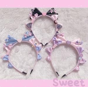 sweet Lolita hair hoop original design hand made sweet mother kc small object cute black sweet headdress