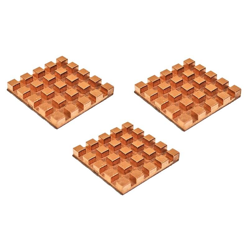 Mini disipador de calor Ultra delgado 3 uds de cobre puro memoria RAM enfriamiento para VGA DDR MOS GPU IC Chipset refrigerador del radiador disipador de calor 17x17x2mm