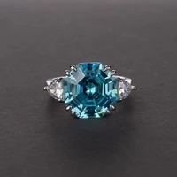 vintage 100 925 sterling silver created moissanite aquamarine gemstone wedding engagement ring jewelry gift for women wholesale