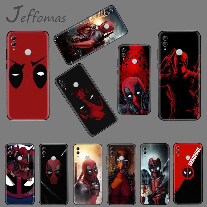 Deadpool marvel USA film housse de téléphone en Silicone souple pour Huawei Honor 7C 7A 8X 8A 9 10 10i Lite 20 NOVA 3i 3e