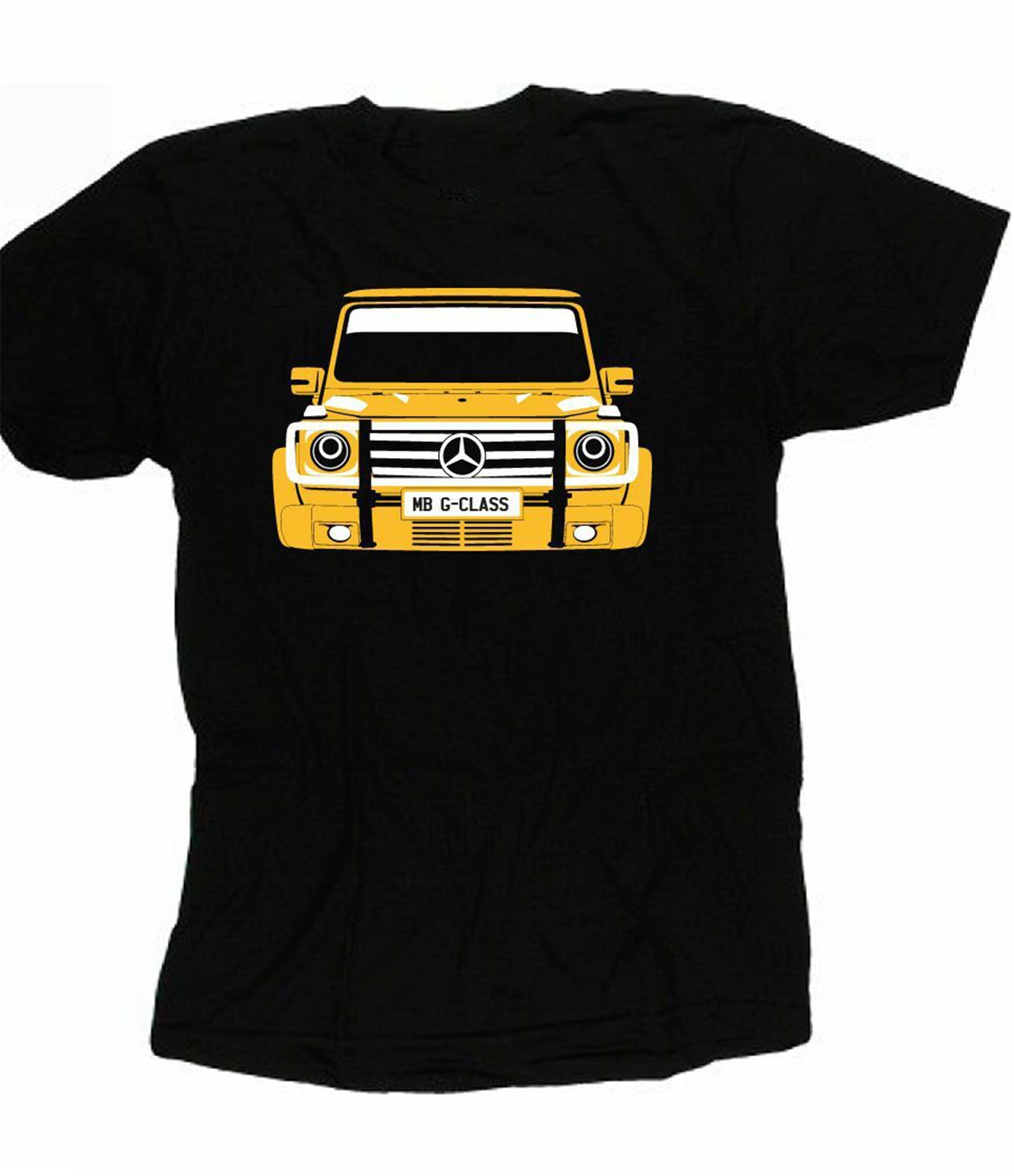 Camiseta personalizada, MB, clase G, G-Wagen 463, Merc, selección de placa de color de coche, modelos básicos Benzy, camiseta