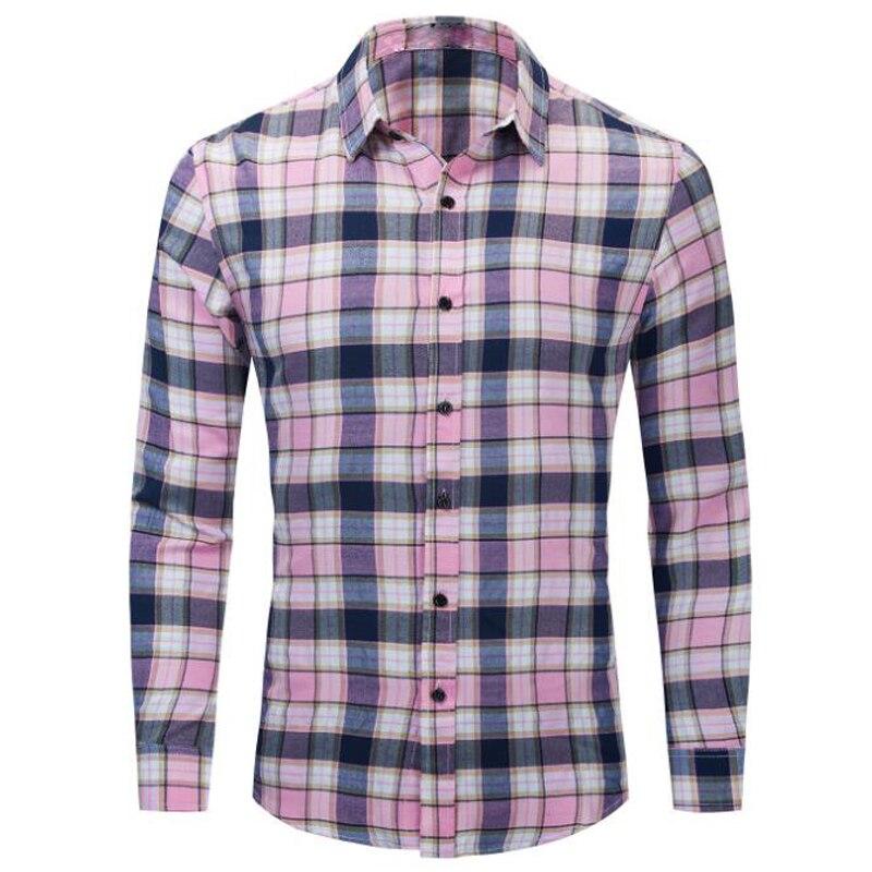 Сезон: весна-лето мужские рубашки высокого качества 100% хлопок рубашки на каждый день для мужчин с длинными рукавами размера плюс рубашки в к...