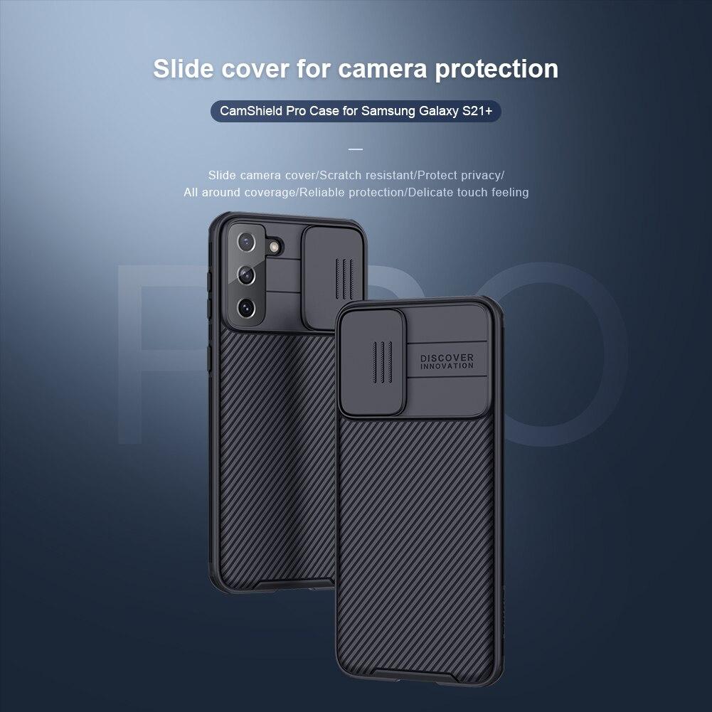 10 قطعة/الوحدة الجملة Nillkin CamShield برو حالة لسامسونج غالاكسي S21 + حالة الشريحة غطاء للكاميرا حماية حالة