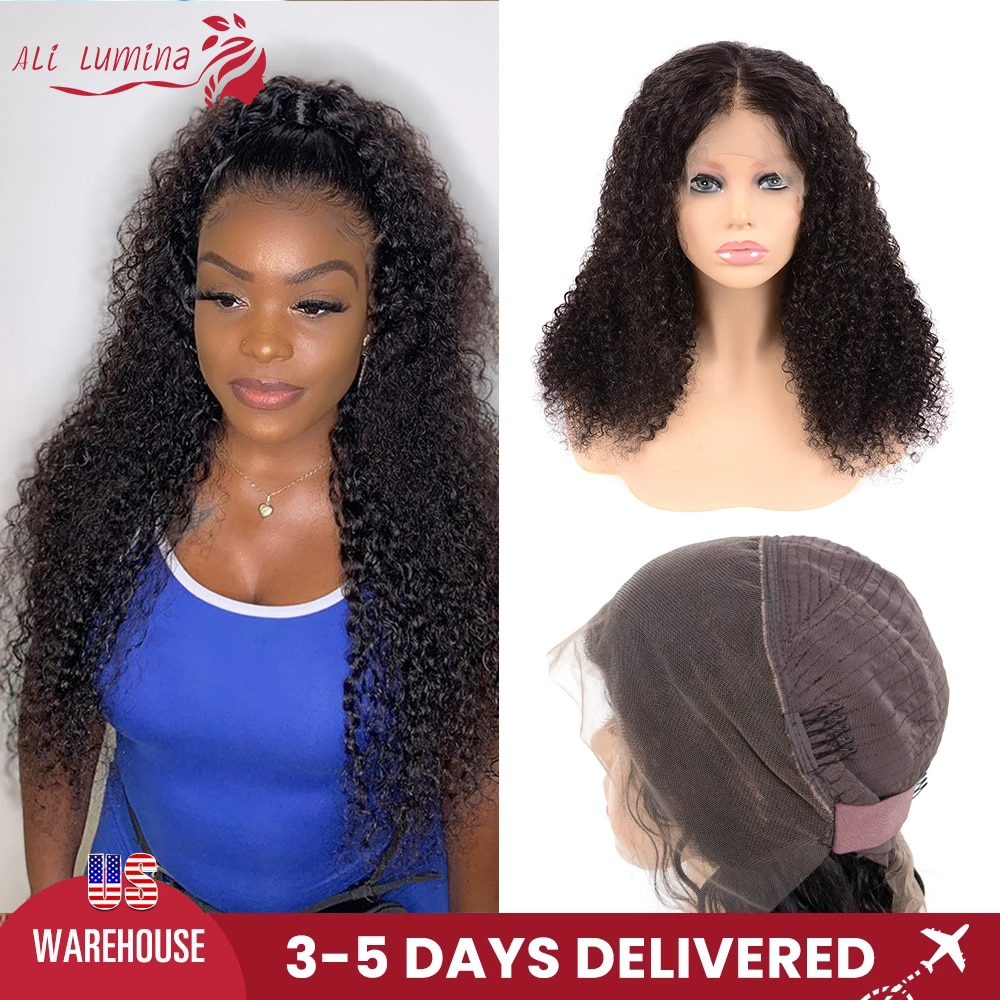 13x4 Lace Front Wig Curly Human Hair Wigs For Black Women PrePlucked Brazilian Hair HD Transparent Lace Wig 4x4 Lace Closure Wig