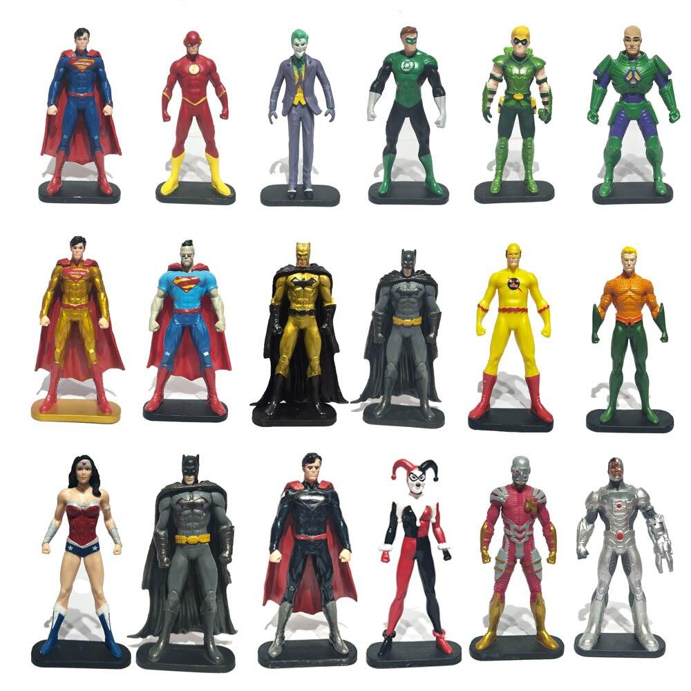 Avenger Superheroes Batman Green Lantern Flash Superman Wonder Woman Aquaman Action Figure Captain DC Christmas Gifts