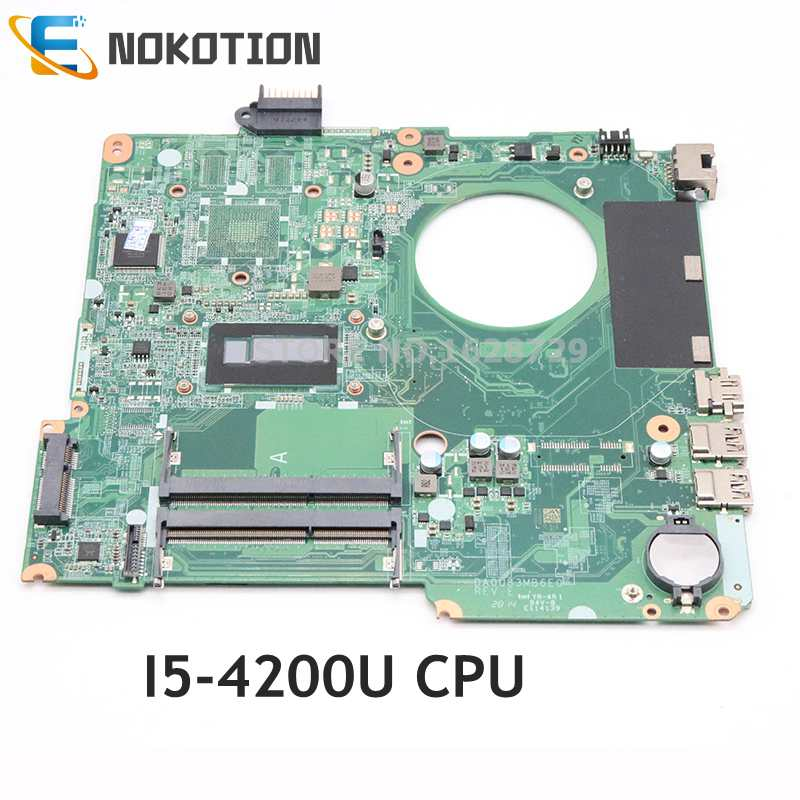NOKOTION ل HP بافيليون 15-N سلسلة اللوحة المحمول I5-4200U وحدة المعالجة المركزية DDR3 DA0U83MB6E0 732086-001 732086-501
