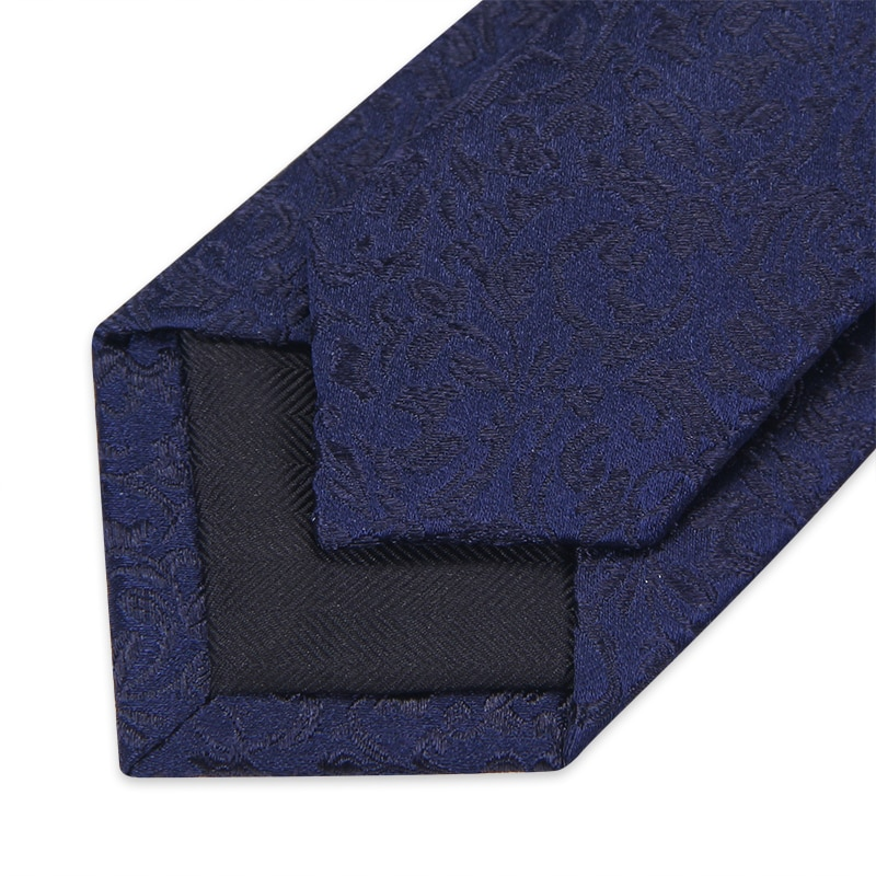 High Quality 2019 New Designers Brands Fashion Business 5cm Slim Ties for Men 100% Silk Necktie Office Work with Gift Box Blue