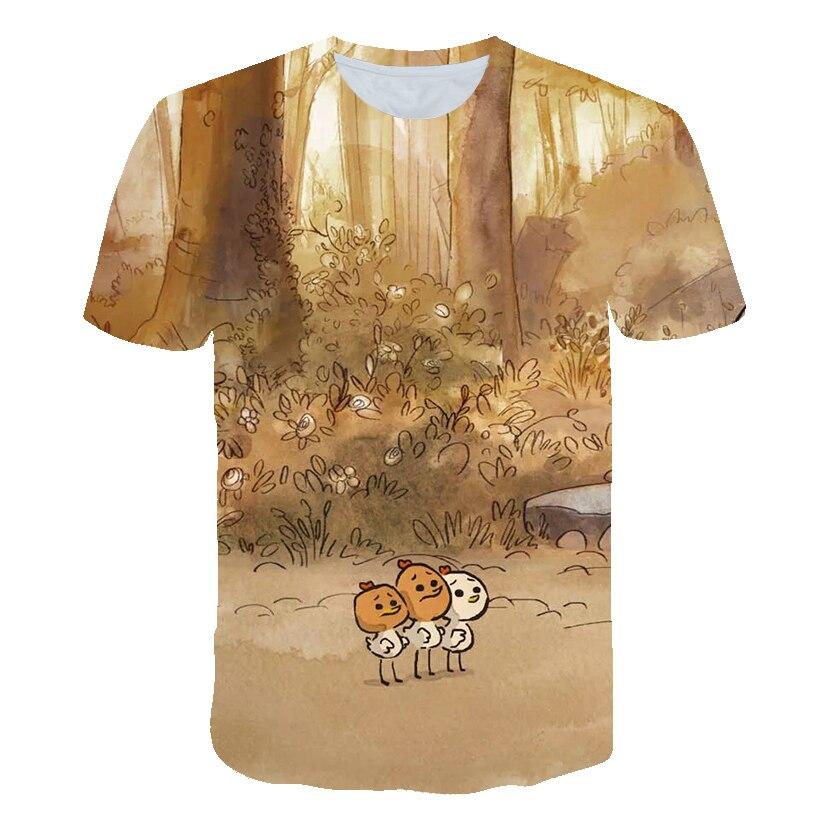 2021 새로운 여름 어린이 의류 3D 인쇄 남여 소년과 소녀 귀여운 만화 t-셔츠 야생 패션 캐주얼 티셔츠