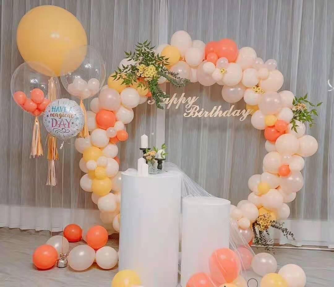 جميل المعادن الزفاف قوس ديكور الزواج خلفية حامل بالون زهرة معدنية إطار دائري مهرجان حفلة مرحلة الديكور