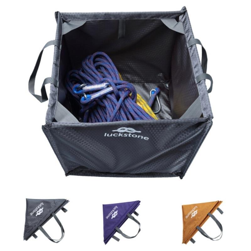 Nylon pliant Cube escalade sac jeter ligne corde pliable sac de rangement pour Camping randonnée escalade accessoires