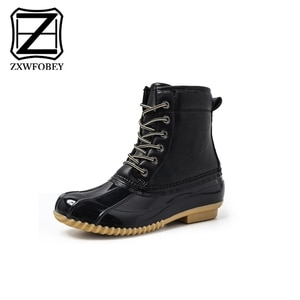 New Women Casual Winter warm snow boots women Comfort Round Toe Bow Slip on flats Mid-Calf Boots Women boots