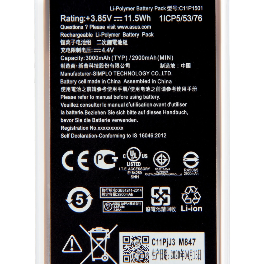Original Replacement Battery C11P1501 For Asus ZenFone2 Laser selfie ZE550KL ZE601KL Z00LD Z011D ZD551KL Z011D D551KL Z00UD enlarge