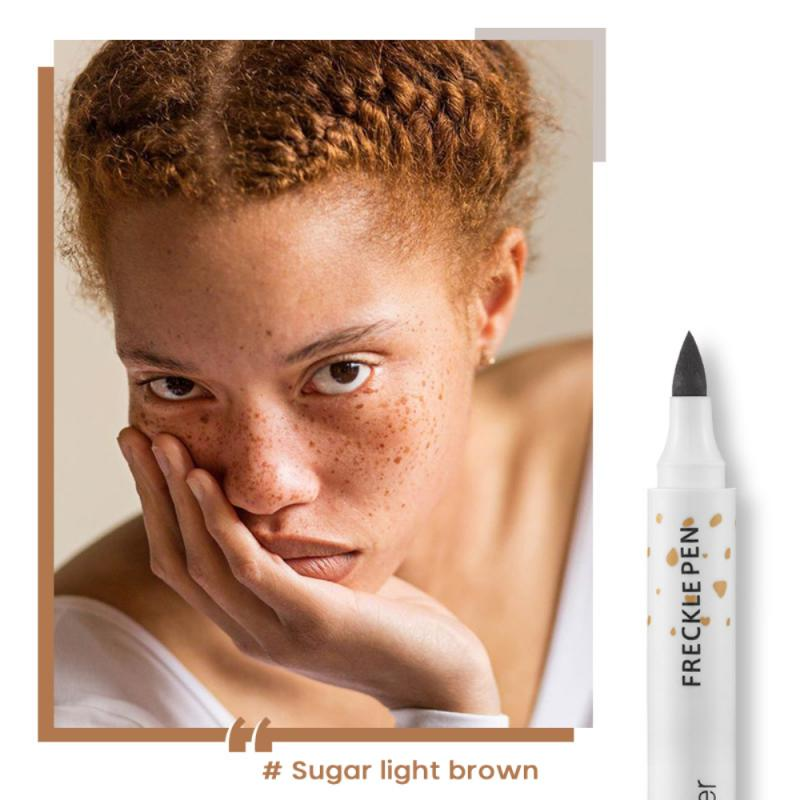 Natural Freckle Pencil Soft Brown Freckle Pen Makeup Lasting Waterproof Dot Spot Pen Concealer Face