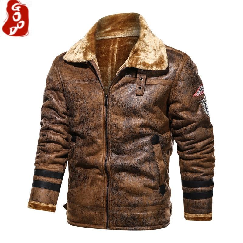 Men's Winter Leather Jackets 2021 New Thick Warm Plus Velvet Leather Biker Jacket Coats Men Oversized Motorcycle Leather Jackets