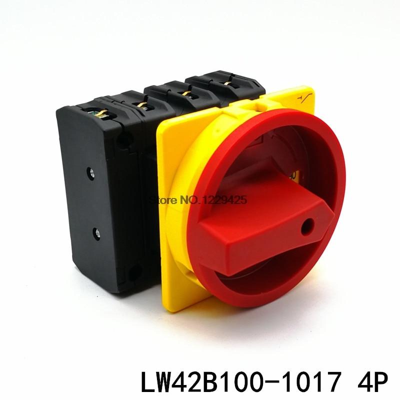 LW42B100-1017/LF101 4P 100A كام أون-أوف التبديل العالمي محول تبديل قطع الطاقة LW42B