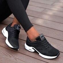 ריצה נעלי נשים לנשימה נעליים יומיומיות חיצוני אור משקל ספורט נעלי הליכה מזדמנים פלטפורמת גבירותיי סניקרס שחור