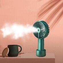 2 en 1 Portable ventilateur USB batterie Rechargeable 2000mah eau brumisation Air refroidissement humidificateur ventilateur poche petit ventilateur de bureau refroidisseur