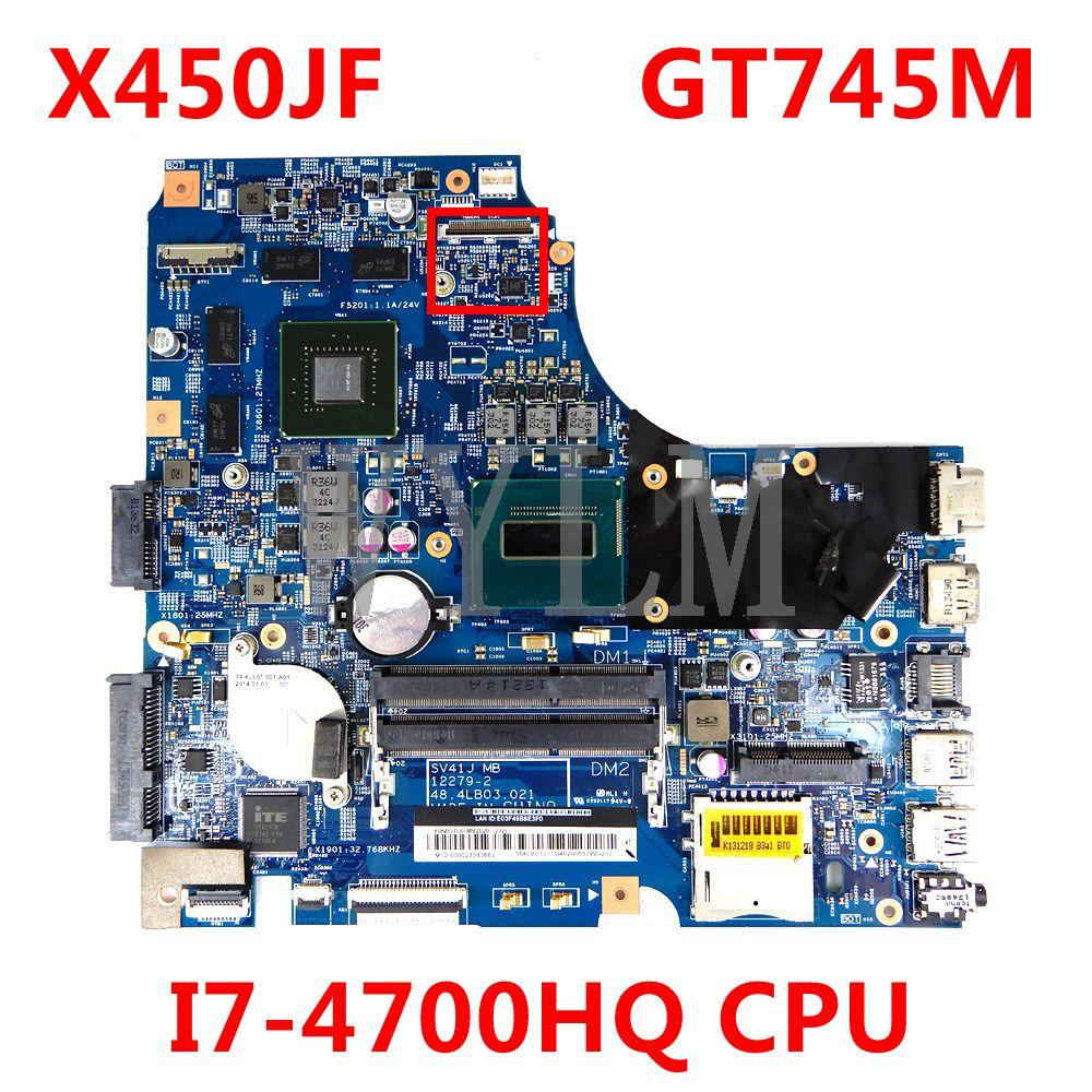 X450JF I7-4700HQ CPU GT745M اللوحة ل ASUS F450 K450J F450J SV41JN A450J X450 X450J X450JN X450JB X450JF اللوحة المحمول