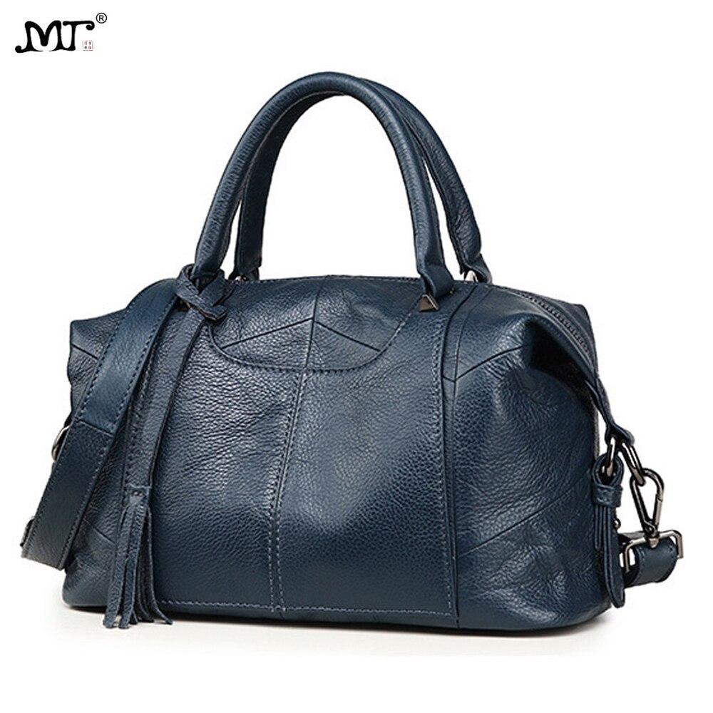 MJ-حقيبة يد نسائية من الجلد الطبيعي ، حقيبة حمل كبيرة السعة ، حقيبة كتف
