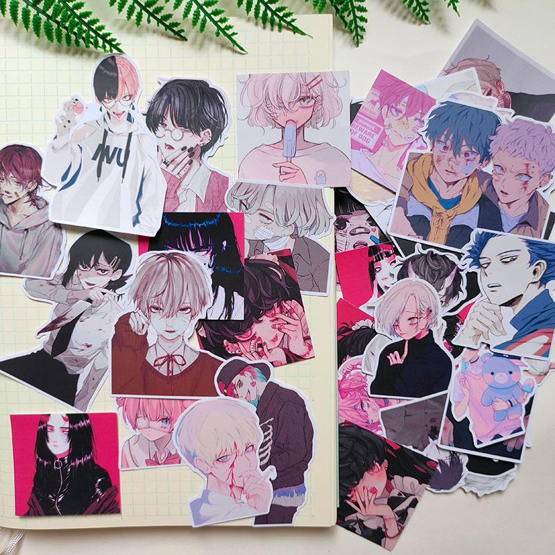 40 teile/satz Horror boy anime aufkleber DIY scrapbooking basis collage handy computer dekoration aufkleber