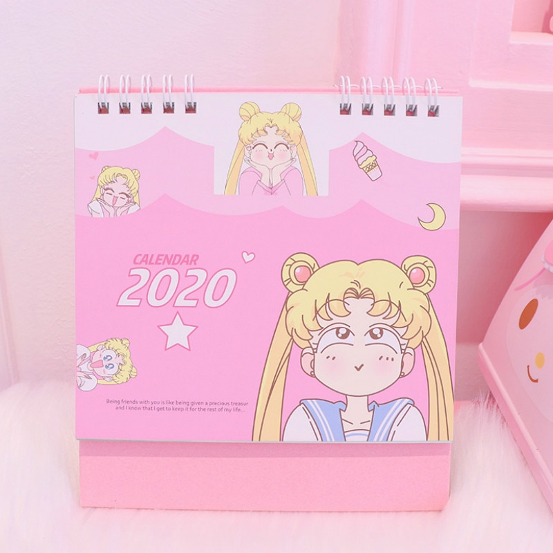 Mini Sailor Moon 2020 New Calendar Cosplay Girls Kawaii Accessory Anime Sailor Moon Tsukino Usagi Princess Serenity Cosplay Gift