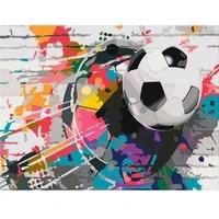 AMTMBS     peinture a lhuile par numeros  Graffiti  dessin de Football sur toile  Portrait dart peint a la main  bricolage  decoration de maison