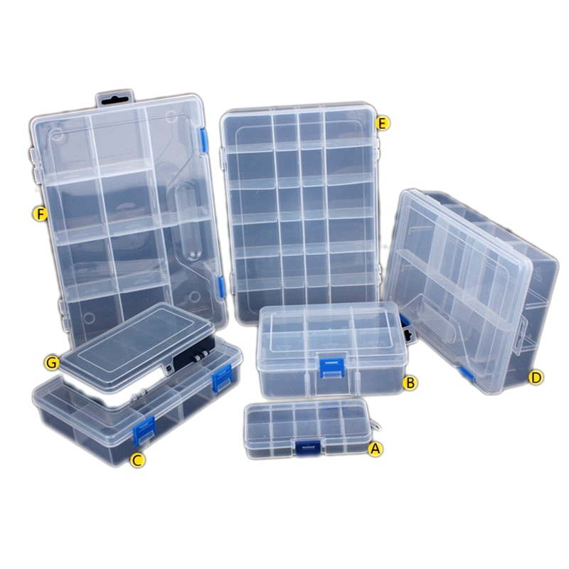Nuts bits células caixa de ferramentas portátil jóias recipiente brincos anel eletrônico broca parafuso contas componente armazenamento caixa ferramentas