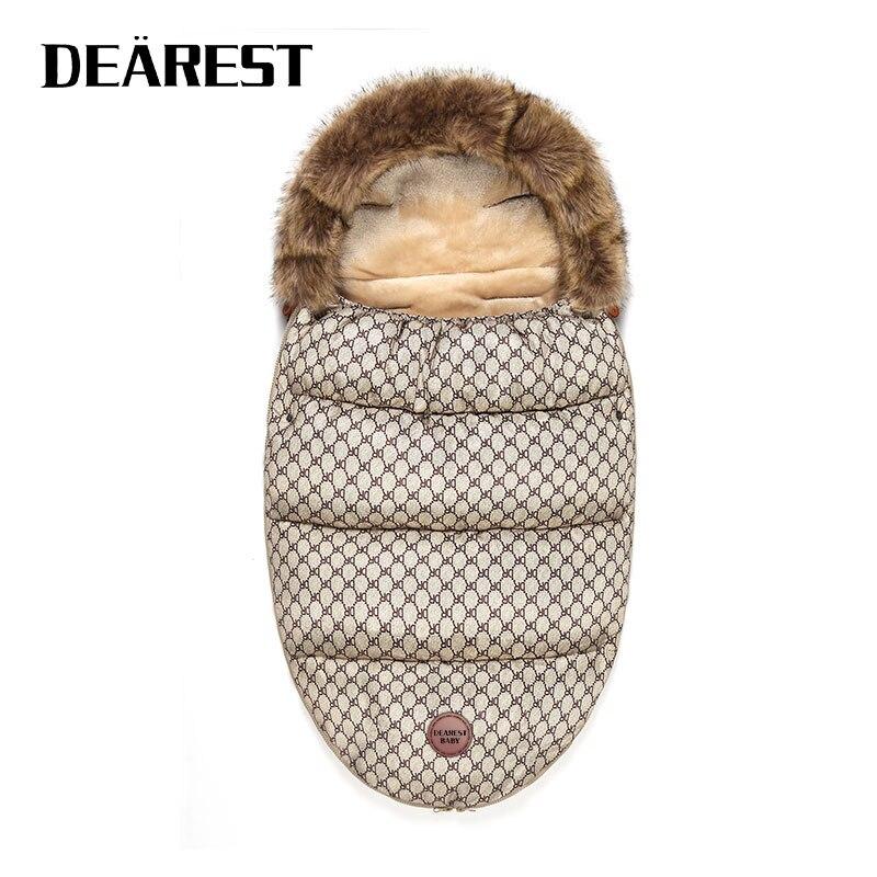 Newborn Baby Sleeping Bags Infant Button Knit Swaddle Wrap Winter Stroller Envelope Toddler Blanket Sleepsack DEAREST