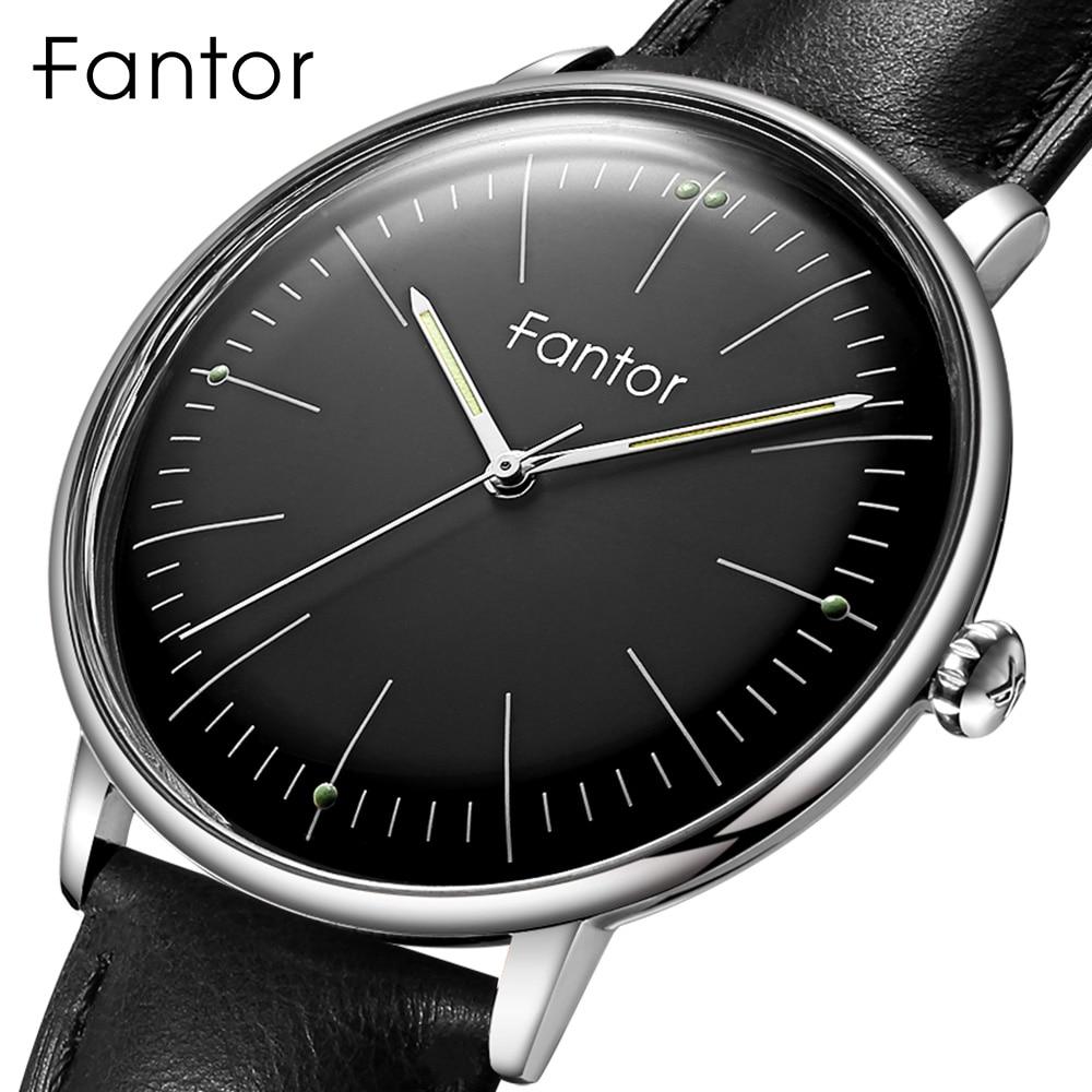 Relojes para hombre Fantor Top Casual de marca, reloj de pulsera de cuero de la mano luminoso a prueba de agua, reloj de cuarzo clásico 2020 para hombres