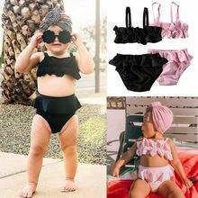 Kid Baby Girl stroje kąpielowe kostium kąpielowy strój kąpielowy topy + spodenki odzież