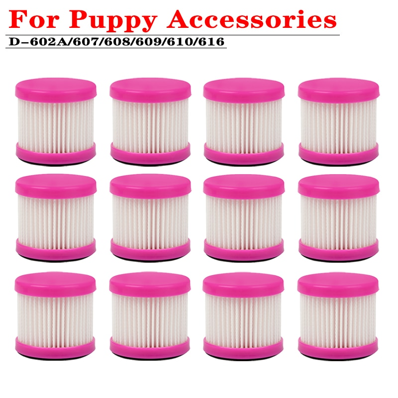 For Puppy Handheld Vacuum Cleaner Accessories D-602A D-607HEPV Filter D-608 D-609 D-610 D-616 Mite Removal Replacement parts replacement air hepa filter cartridge for d 602 d 602a d 607 d 609 vacuum cleaner