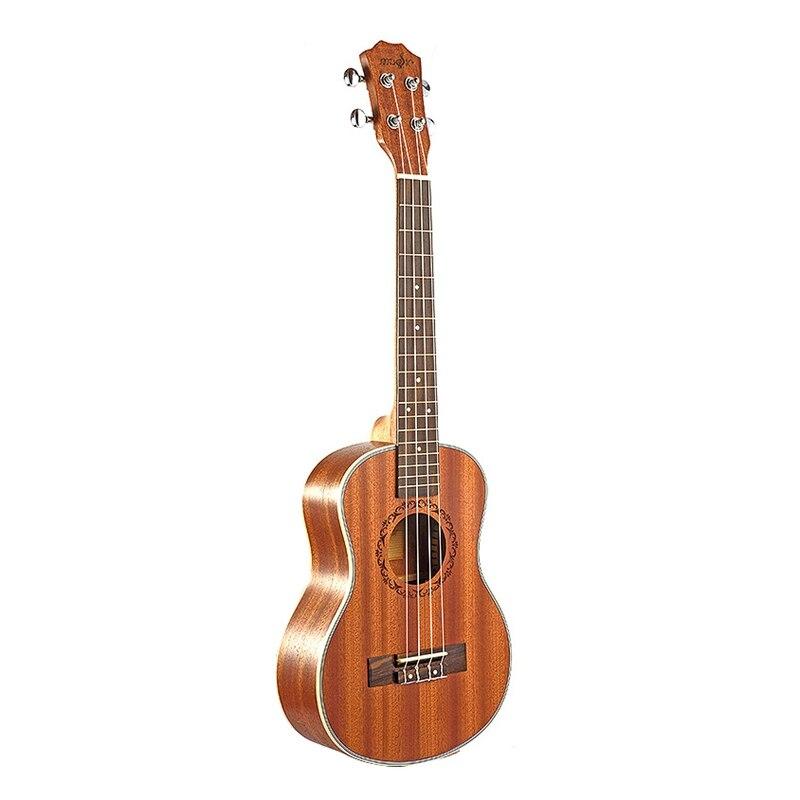 Tenor-قيثارة كهربائية صوتية ، جيتار 26 بوصة ، 4 أوتار ، جيتار مصنوع يدويًا من خشب الماهوجني