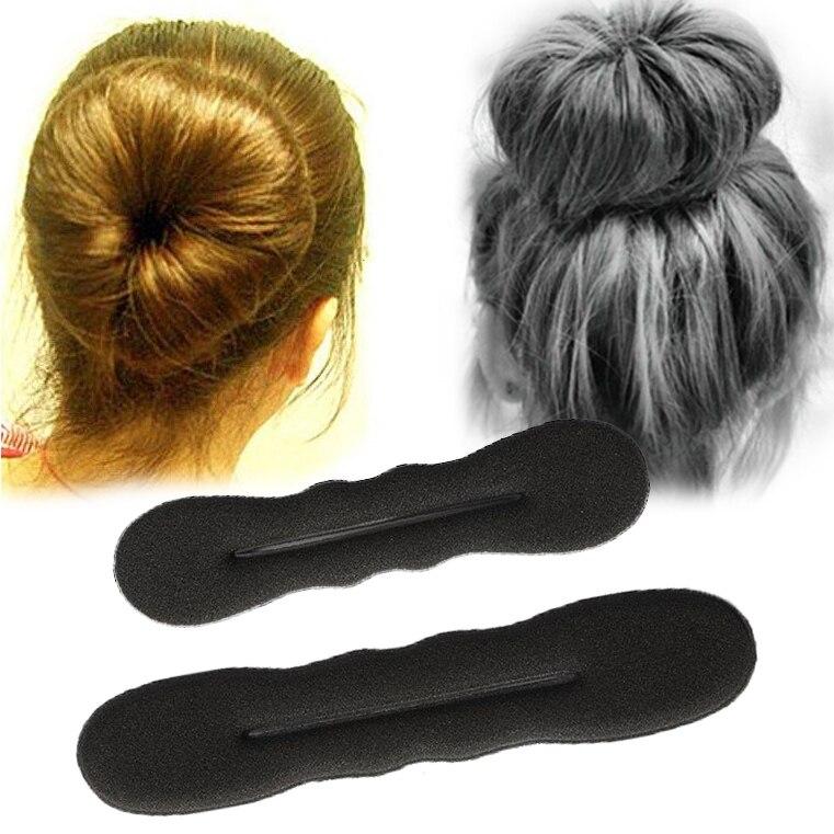 Czarna gąbka narzędzie do układania włosów Scrunchie pączek twister do koka pierścień magiczna pianka przyrząd do koka z włosów narzędzie obrotowe opaska do włosów klip opaski na głowę