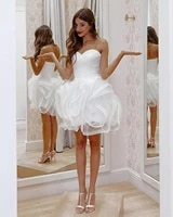 2020 romantic tulle a line prom dress ruffles sweetheart backless mini girls sexy backless short homecoming dresses