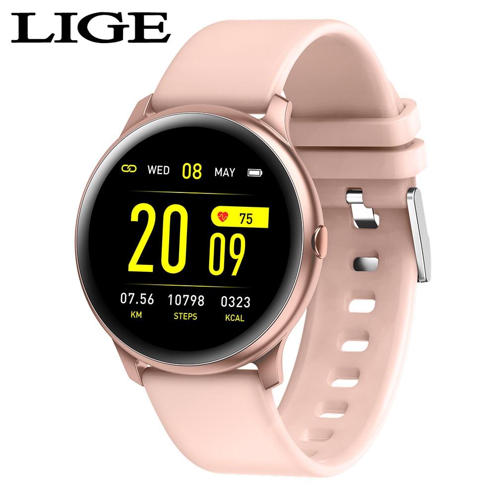 Esporte para Homens e Mulheres com Rastreador de Fitness Função de Monitor de Frequência Cardíaca e Pressão Pulseira para Iphone Lige-relógio Inteligente Moda Arterial