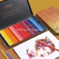 Marco 48/72 Colors Oily Colored Pencils Set Painting lapis de cor Non-toxic Lead-free Oily Color Pencil Writing School Supplies