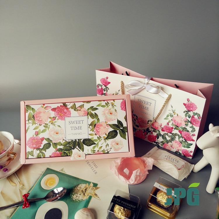 Paquete de papel de caramelo para pastel, caja de regalo de flores...