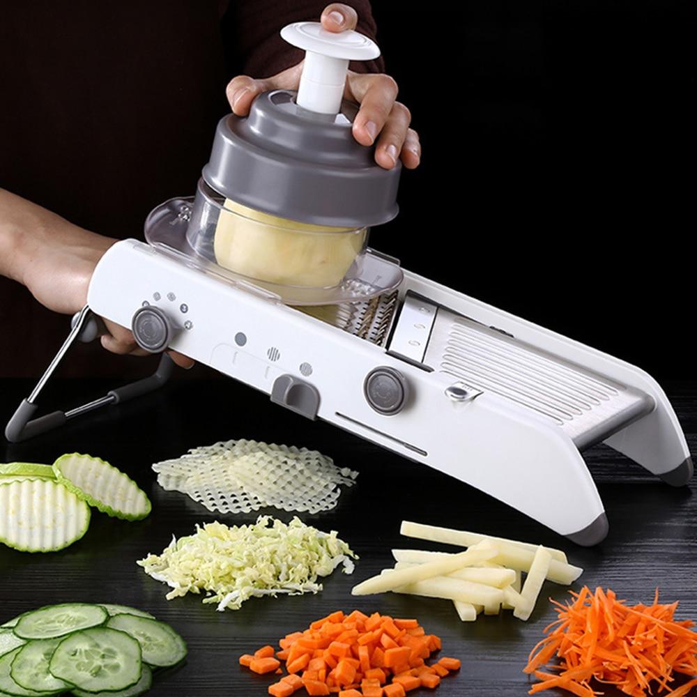 Cortador multifuncional de verduras, cortador de verduras, trituradora, trituradora creativa de patatas, rallador de frutas y verduras
