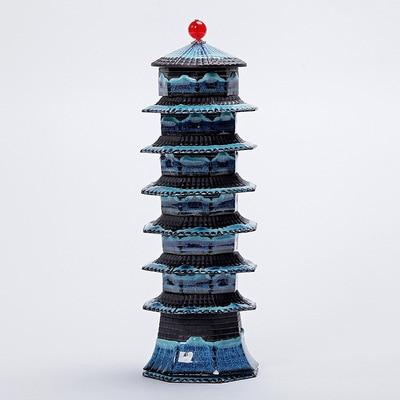 الإبداعية بناء ضوء السفر المحمولة حزمة طقم شاي الكونغ فو مجموعة كاملة من أكواب شاي مثمنة معبد أكواب شاي