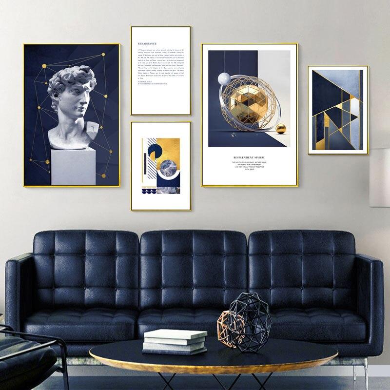 Lienzo renacentista escandinavo, impresión artística, cartel nórdico, cuadro de pintura decorativa abstracta, decoración moderna para sala de estar