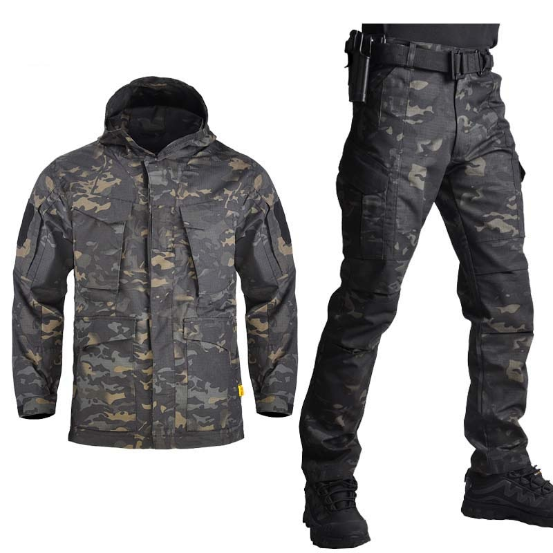 Outdoor M65 Tactical Airsoft Jacket Suits Camouflage Jacket Set Men Army Hunting Jackets Military Waterproof Jacket Windbreaker outdoor m65 tactical airsoft jacket suits camouflage jacket set men army hunting jackets military waterproof jacket windbreaker